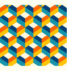 retro 3d choco drops pattern teal vector image