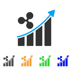 ripple trend up icon vector image