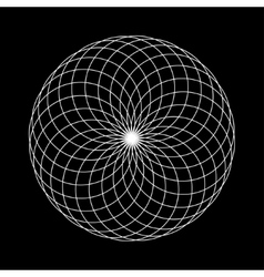 Sacred geometry round on black vector
