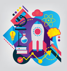 science modern flat vector image