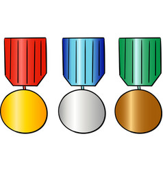 set of sport trophy reward and trophy vector image