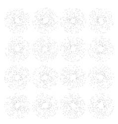 Set of vintage hand drawn sunbursts EPS 10 vector