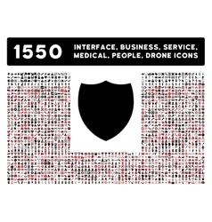 Shield Icon and More Interface Business Tools vector