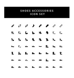 Shoes icon set with glyph style design vector