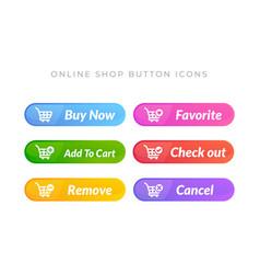 simple design buy now button online shop icon vector image