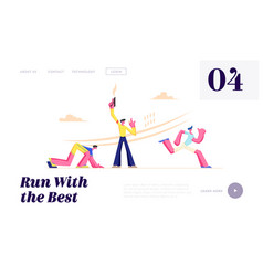 start at sport running competition run marathon vector image