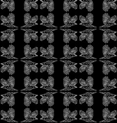 The pattern of a raven vector image