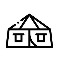 Tourist tent icon outline vector