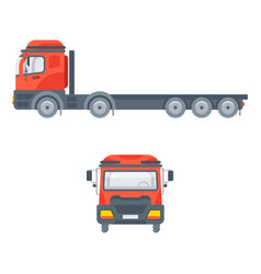 truck tractors for building material vector image
