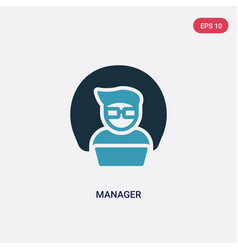 two color manager icon from strategy concept vector image
