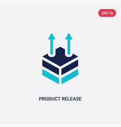 Two color product release icon from general vector