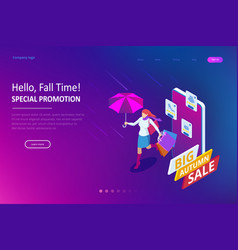 web page design templates collection autumn vector image