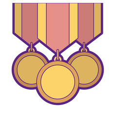 Winner medals isolated icon vector