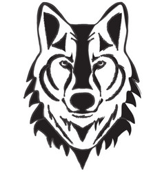 wolf head silhouette vector image