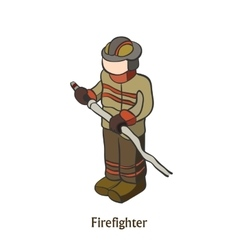 Man engaged in firefighting save people vector image vector image