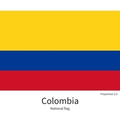 National flag of Colombia with correct proportions vector image vector image