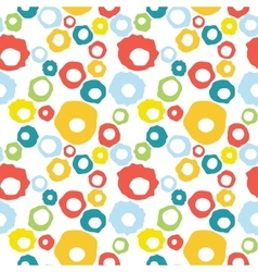 Seamless pattern with doodle colorful circles vector image