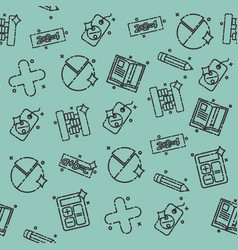 algebra concept icons pattern vector image