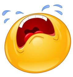 crying emoticon vector image