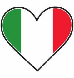 Italy heart flag vector