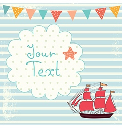 Sailing Boat Background vector image