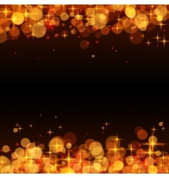 Yellow shining bokeh frame abstract background vector image