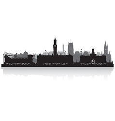 Bradfort city skyline silhouette vector image vector image