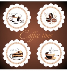 set of coffee design elements vector image vector image