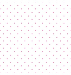 Tile pattern pink polka dots white background vector image vector image