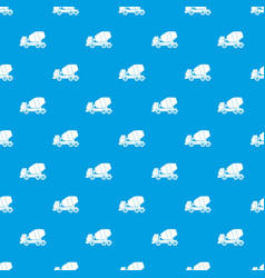 truck concrete mixer pattern seamless blue vector image