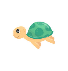 icon of little swimming turtle adorable marine vector image