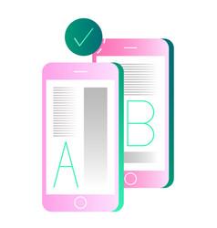 Ab testing gradient vector