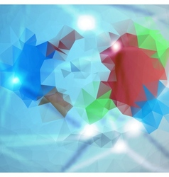 abstract background Polygon blue and card vector image
