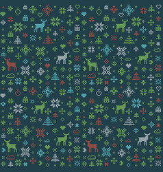 Abstract christmas pattern winter scandinavian vector