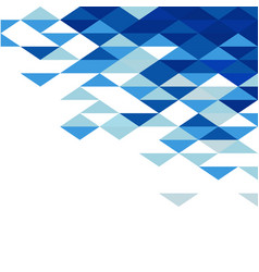 Abstract geometric triangle blue mosaic pattern vector