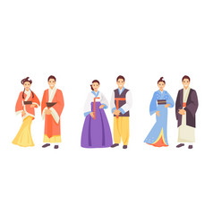 asian costumes vector image