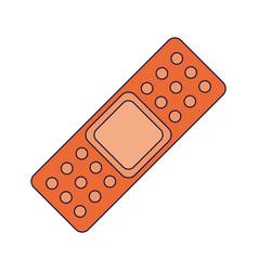 band aid medical symbol vector image