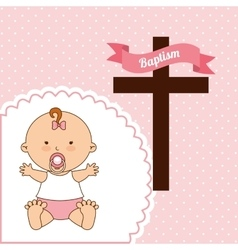 baptism invitation design vector image