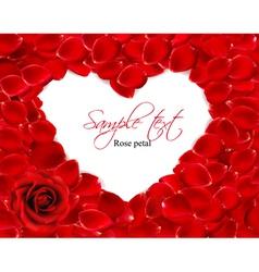 beautiful heart of red rose petals vector image