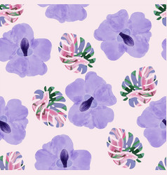 beautiful purple orchid flowers and tropical vector image