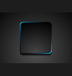 black square with blue glowing effect background vector image