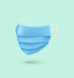 blue respiratory mask medical face mask viruses vector image