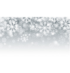 blurred motion falling snow 3d effect vector image