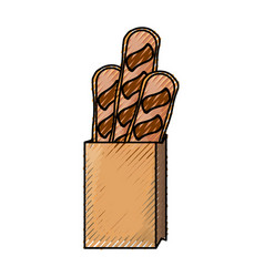 bread loaf box vector image