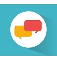 Bubble and communication design vector