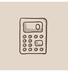 Calculator sketch icon vector