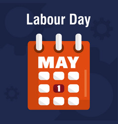 Calendar reminder labour day vector