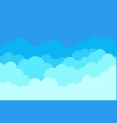 cloud in sky pattern blue heaven cloudy vector image