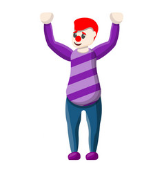 Clown hands up icon cartoon style vector