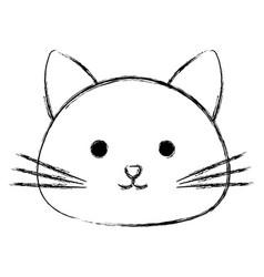 Cute cat head pet friendly vector